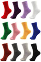 Adult Super SoftFeatherLight Cozy Fun Home Socks - 4/6/12 Pair Value Pack