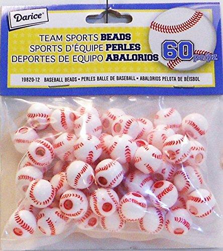 Darice Plastic Baseball Bead 19820 14