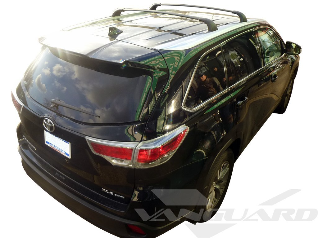 Amazon.com: VANGUARD VGRCB 1064BK 2014 2017 Toyota Highlander(XLE,LIMITED)  Cargo Carrier Roof Top Two Cross Bar(OE STYLE): Automotive