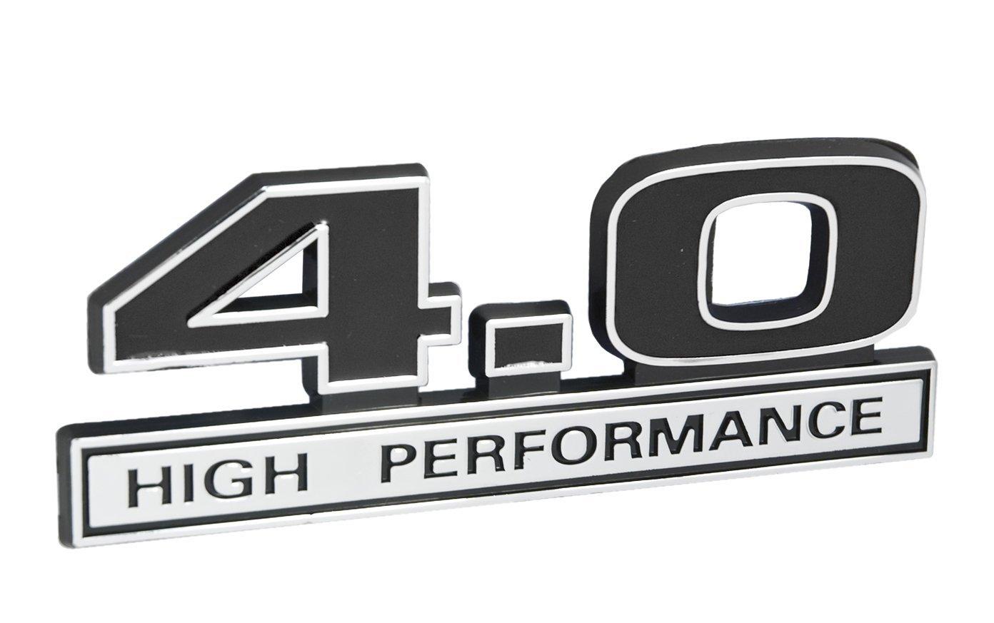 40 Liter V6 High Performance Engine Emblem In Chrome Jeep 4 0 Stroker For Sale Black 5 Long Automotive