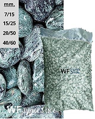 Piedras de Mármol Verde Cumbre – Saco de 25 kg – Guijarros Piedras Jardín: Amazon.es: Hogar