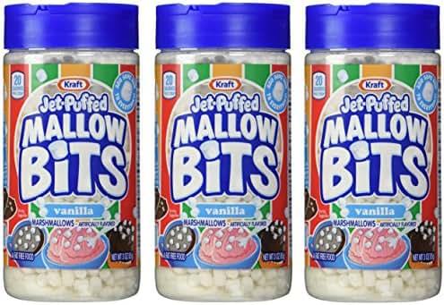 Kraft Jet-puffed Mallow Bits Vanilla Flavor Marshmallows, 3 OZ Bottles (Pack Of 3)