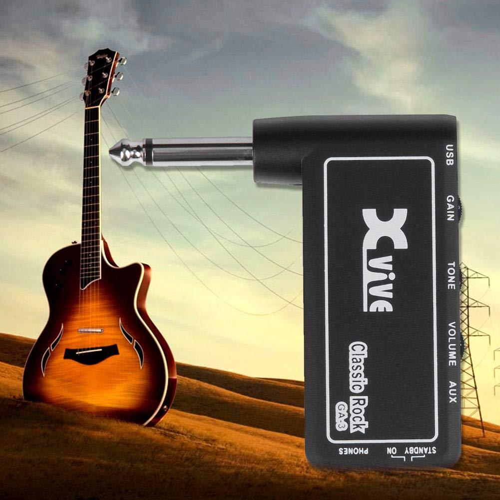 JUNERAIN Xvive GA-3 Rock Mini Amplificador de Auriculares para Guitarra eléctrica portátil: Amazon.es: Hogar