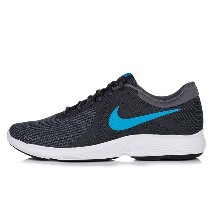 Nike Revolution 4 Herren dunkelgrau blauem Streifen (Anthracite/Lt Blue)