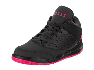 65d8666382e6fb Jordan Kids Flight Origin 4 (PS) Anthracite Deadly Pink Black Size 11