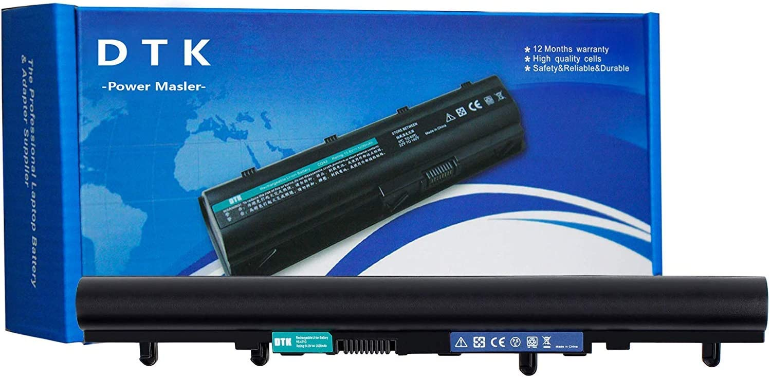 DTK AL12A32 TZ41R1122 Laptop Battery Replacement for ACER Aspire V5-471 V5-431 V5-531 V5-571 V5-431G/P V5-471G/P V5-531G/P V5-571G/P Notebook Batteries (14.8V 2600mAh 4Cell)