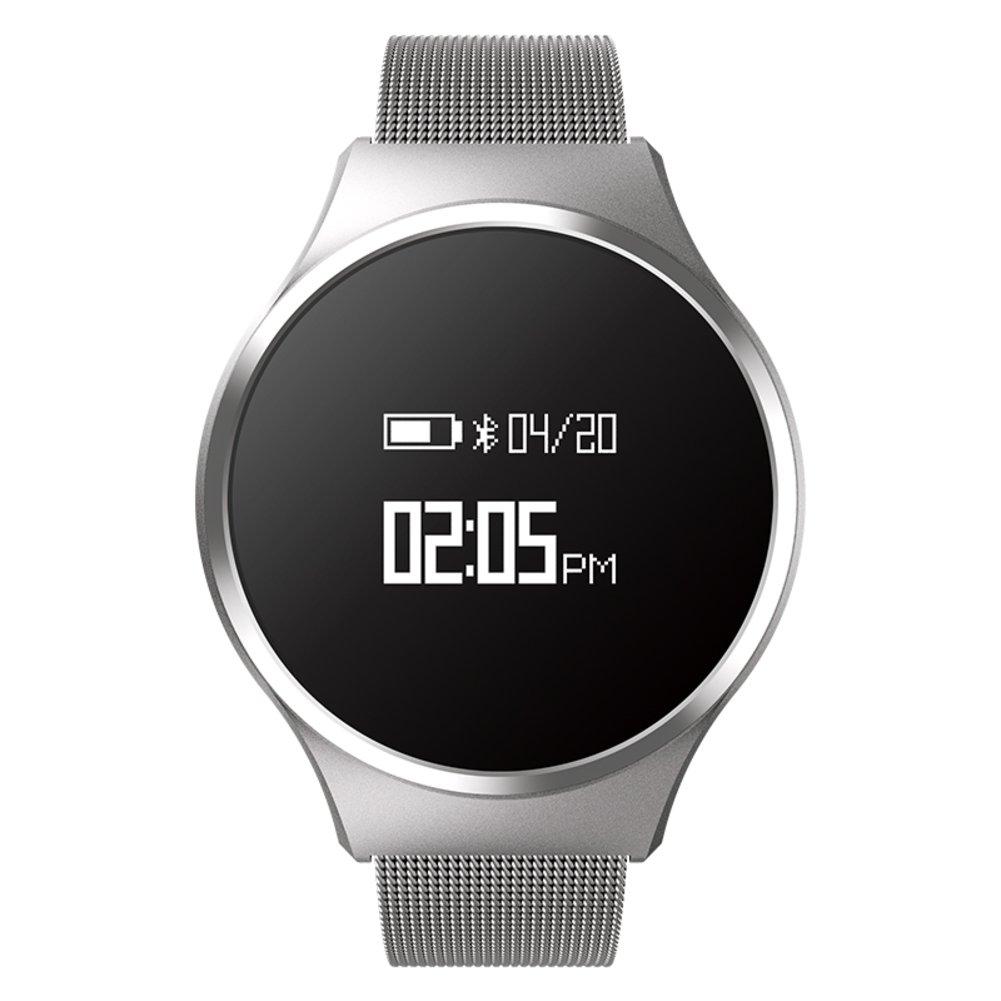 メンズカジュアルファッションSmart Watch、歩数計ハートレートとスリープ監視LED防水大きなダイヤル、Bluetooth bracelet-d   B0797Q85SP