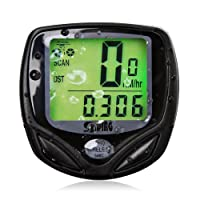 Beeway® Wireless Bicycle Odometer Auto Wakeup Bike Computer Speedometer - LCD Backlight Motion Sensor Waterproof Outdoor Cycling Realtime Speed Track