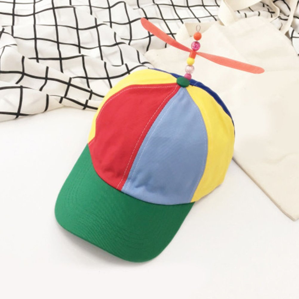 40272fd64a7ba5 Amazon.com: mk. park - Propeller Ball Baseball Hat Multi-Color Clown  Costume Accessory Adjustable (Green): Health & Personal Care