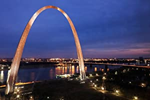 Gateway Arch St Louis Missouri at Sunset Photo Photograph Cool Wall Decor Art Print Poster 36x24