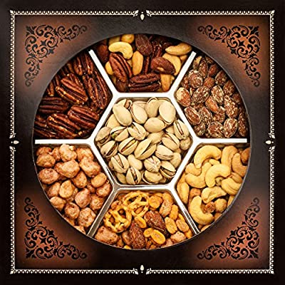 Jaybee's Nuts Gift Basket - Great for Holiday, Corporate, Birthday Gift or as Healthy Nut Snack - Great Variety of Mixed Nuts, Kosher Certified