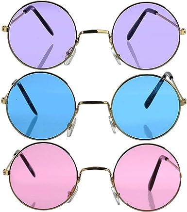 Costume /& Accessories Lennon Circle Sunglasses 12 Purple Hippie Glasses