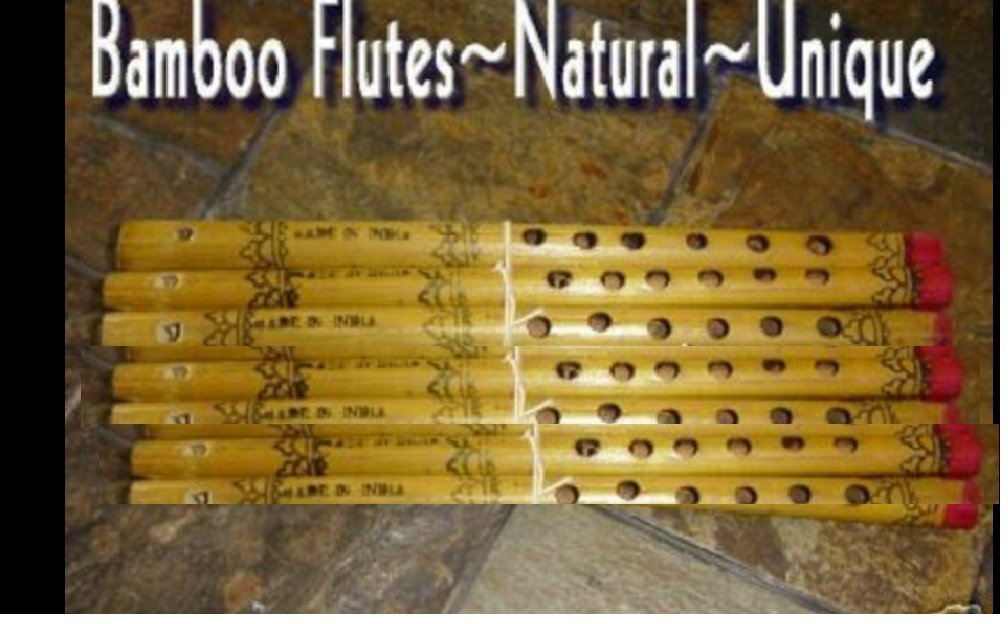 12 REAL BAMBOO FLUTES Hand Painted Nice Sounds KIDS LOVE THESE NICE GIFTS,Christmas & New Year Gift