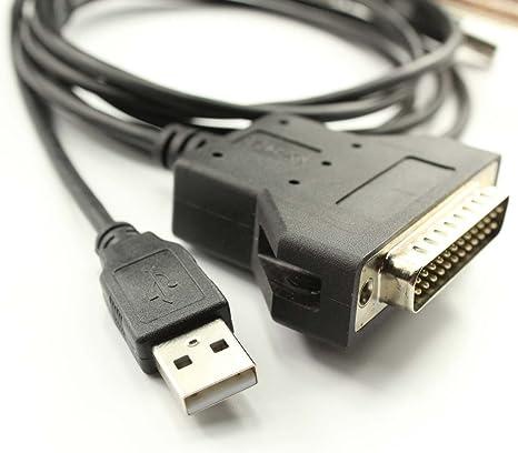 DB25 Impresora Serial Cable Convertidor de Adaptador Con silabs ...