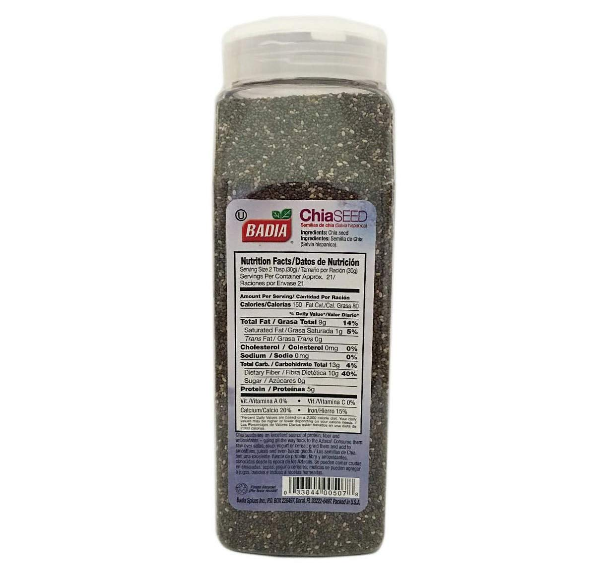 Amazon.com : 2 Pack Whole Chia Seeds/Semillas Salvia Hispanica Kosher 2x22 oz : Grocery & Gourmet Food