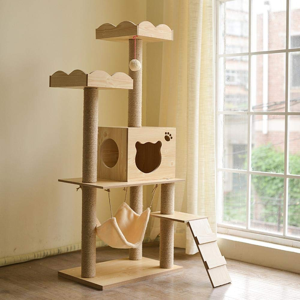Hexiansheng Cat Climb Trees Cat Claw Board Cat litter Cat cat toy solid wood 40  60  145cm