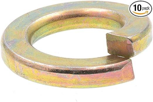 """Qty 10 1 1//2/"""" Regular Split Lock Washers Zinc Plated"""