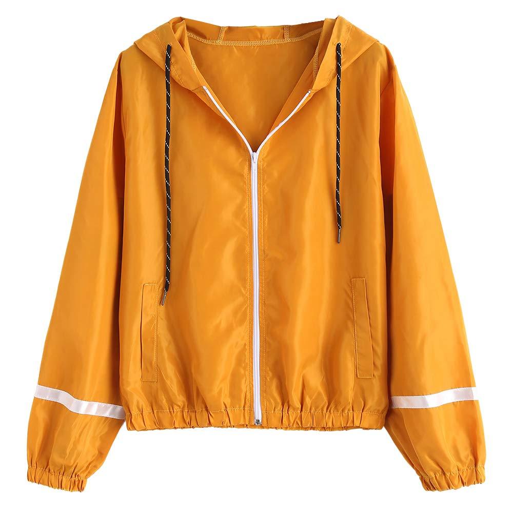 Amazon.com: ZAFUL - Chaqueta ligera con capucha para mujer ...