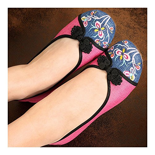 39 Shoes Cloth Old Embroidered Beijing Peacock pink pxqYwIwanE