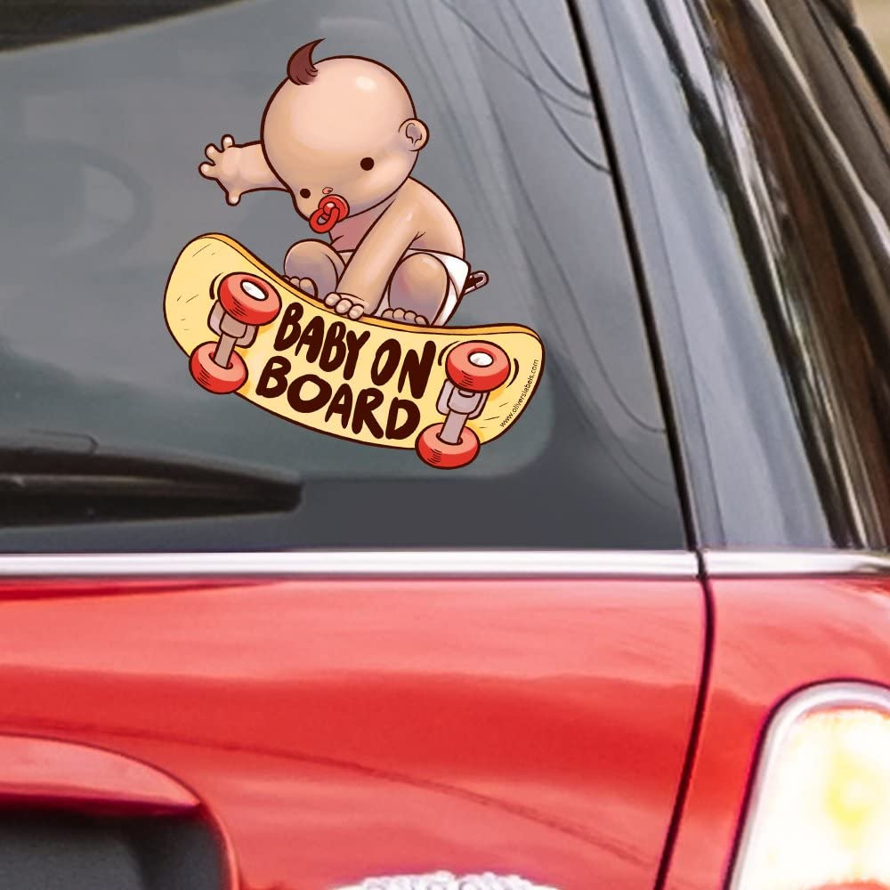 Baby In Car Decal Bumper Sticker Kids Baby on Board Kids Family 17 Colours