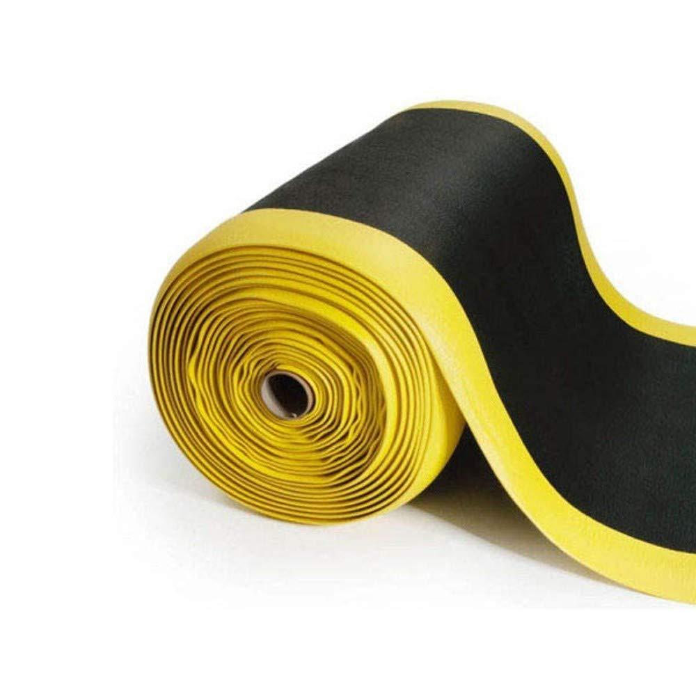 Schwarz-Gelb Anti-Erm/üdungsmatte Softer-Work-Mat 90x400 cm Warnstreifen Arbeitsplatzmatte