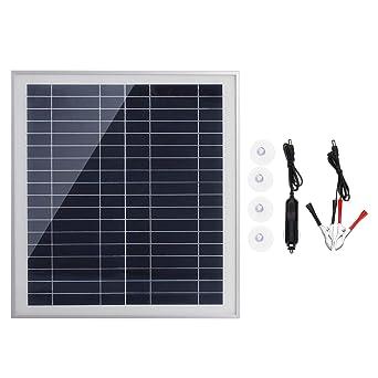 MJJEsports 25W Portable Panel Solar Kit Dc Usb Carga Doble ...