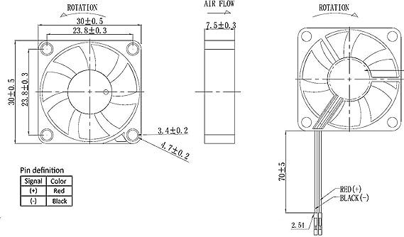 GH G Hawk Raspberry Pi Lufter 30x30x7mm Amazonde Elektronik