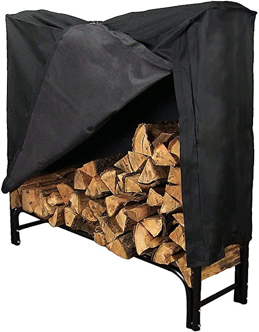 Sunnydaze 4-Foot Firewood Log Rack with Cover Combo – Best Firewood Combo Rack