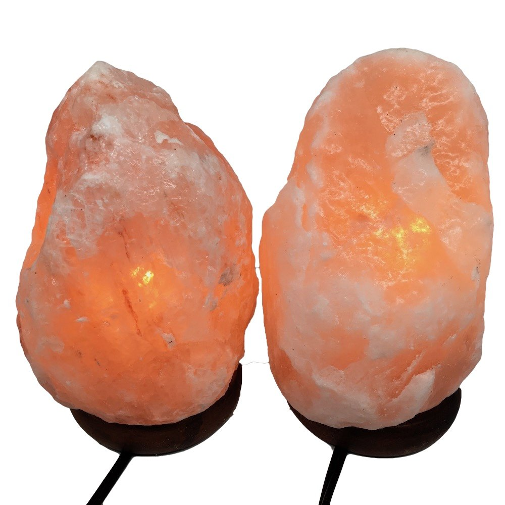 2x Himalaya Natural Handcraft Rough Raw Crystal Salt Lamp7.25''-7.25''Tall, X0105, Exact Item will be Delivered