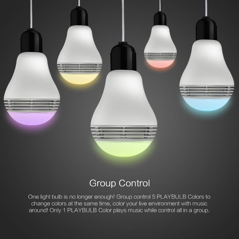 Bluetooth Speaker Smart Dimmable LED Light Bulbs Color Changing ...
