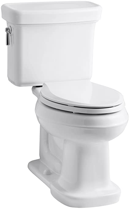 Fantastic Kohler K 3827 0 Bancroft Comfort Height Two Piece Elongated 1 28Gpf Toilet White Creativecarmelina Interior Chair Design Creativecarmelinacom