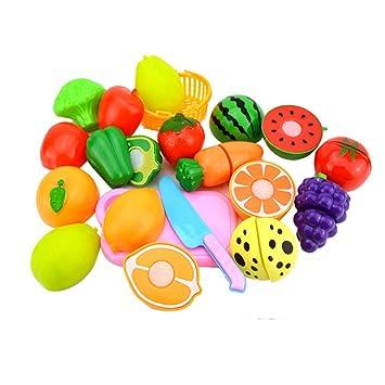 Obst Spielzeuge Gemüse Schneiden Spielen Set Kinder Essen so tun DIY Mädchen Puzzles