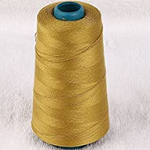 5pc 3000yard/cone Large Cones Cotton Thread Quilting Serger I0066 (Limegold)