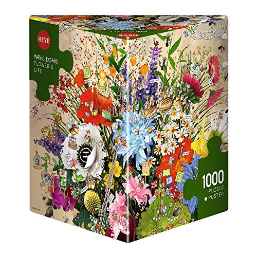Heye 29787 Flowers Life Degano Triangular Puzzle (1000-Piece)