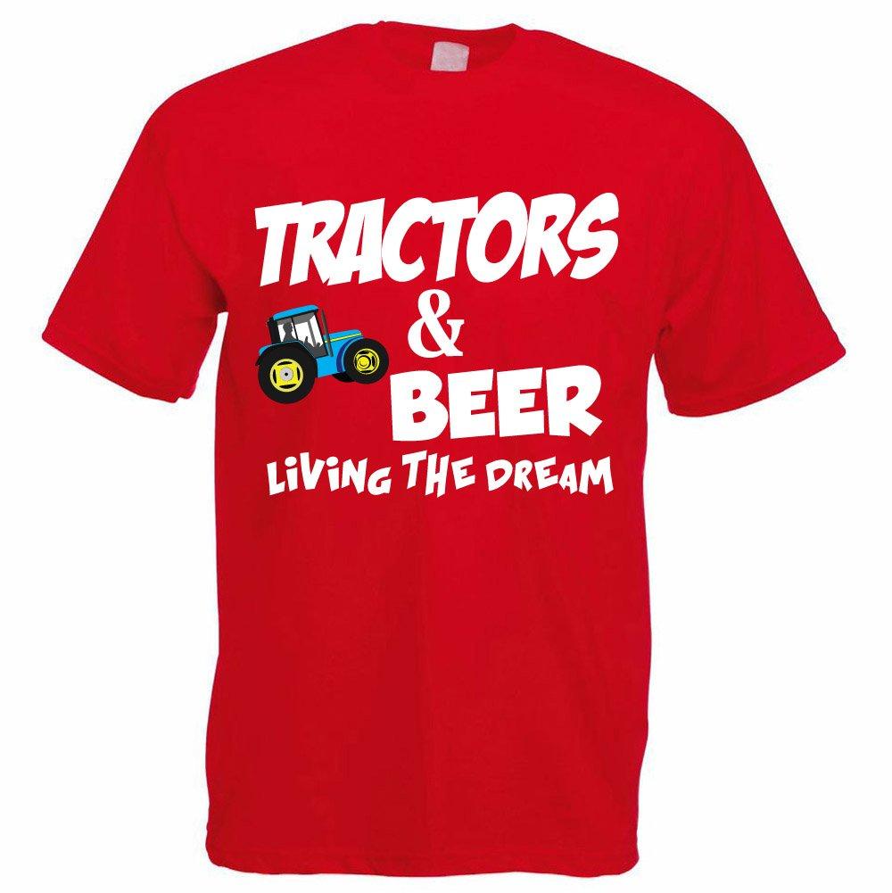Funny Farming T-Shirt - TRACTORS & BEER LIVING THE DREAM - Farmer / Farming  Gift / Tractor / Dad / Grandad Gift Idea: Amazon.co.uk: Clothing