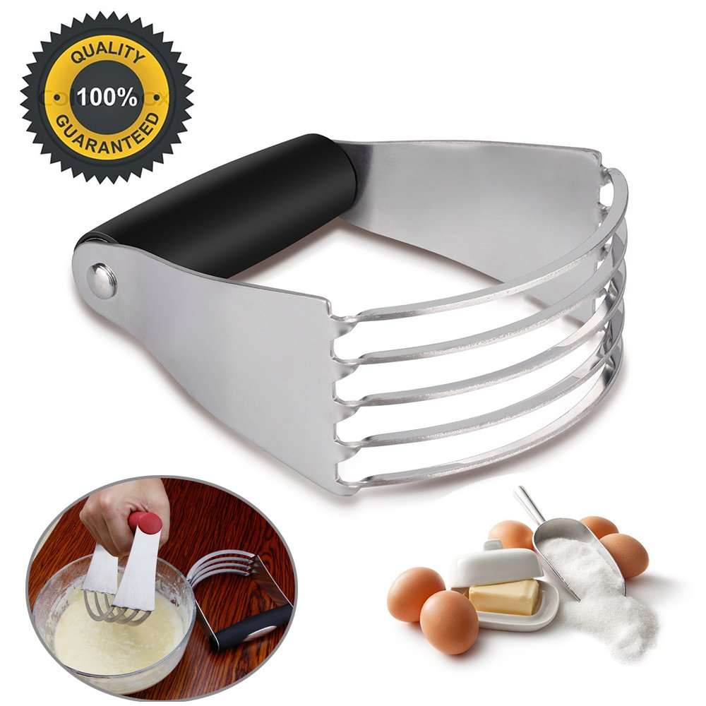 Pastry Cutter Dough Blender, Top Professional Pastry Cutter with Heavy Duty Stainless Steel Blades