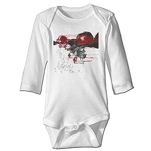 Stranger Things Art Design Infant Boys Girls Baby Onesie Clothes Long Sleeve