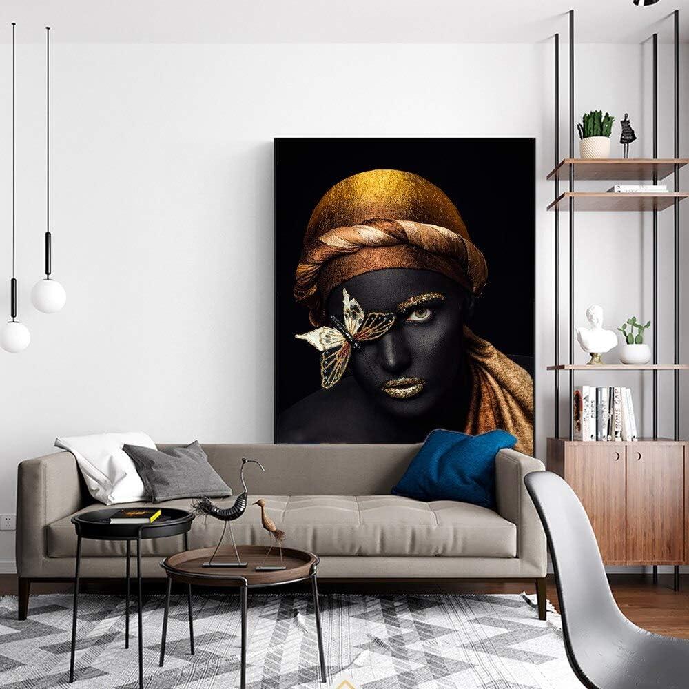 baodanla Sin Marco Lienzo de Mujer Africana en el póster de Pared ...