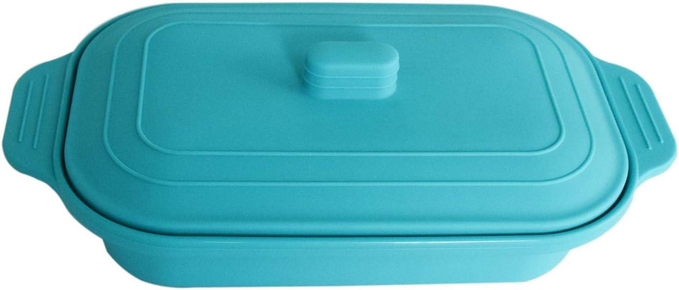 VITAL VAC Estuche de Vapor 2-3 Raciones – Vaporera Papillote de Silicona – para Cocinar al Vapor en Microondas y Horno