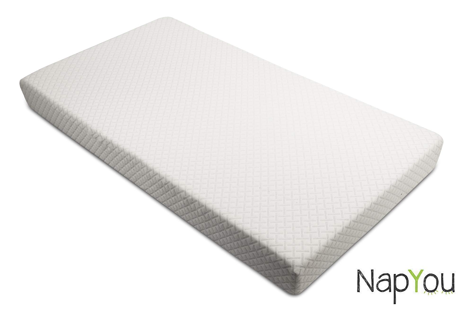 Official Amazon Exclusive NapYou Crib Mattress for Baby or Toddler Bed Mattress with Organic Cotton and Waterproof Cover by NapYou