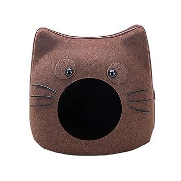 YAGEER gouwo Hogar Cama para Gatos extraíble Cama para Mascotas Tipo de Tienda Nido Interior pequeño