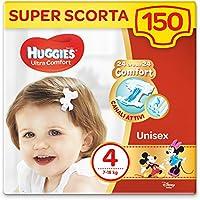 Huggies Pannolini Ultra Comfort, Taglia 4 (7-18 Kg), Confezione