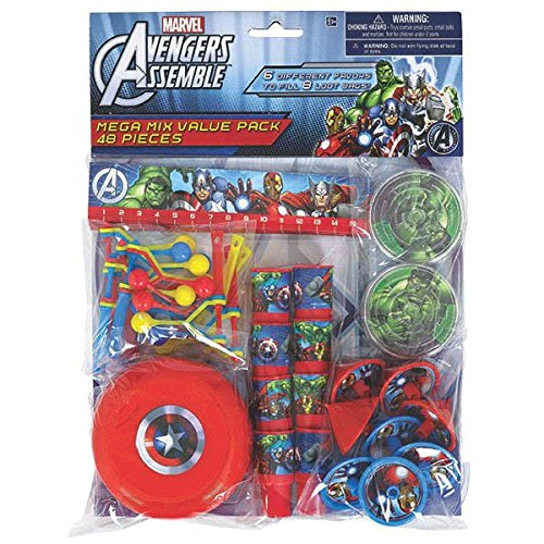 Amscan Avengers Birthday Party Mega Mix Assorted Favor Kit (48 Pack), 11
