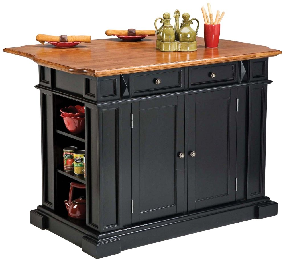 ^ mazon.com: Home Styles 5004-94 Kitchen Island, Distressed Oak ...