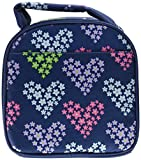 Fit & Fresh Gabby Insulated Lunch Bag, Heart Flowers, Blue