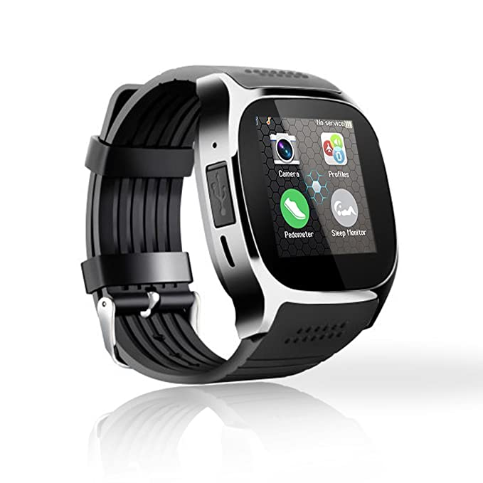 TOP-MAX - T8 - Smartwatch (Bluetooth Smart Reloj Oro con ...