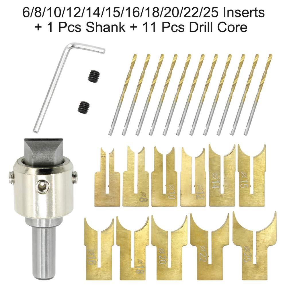 13 pezzi. 6 Set di 24 punte per trapano per perline in legno 25 mm in carburo di tungsteno LAMF