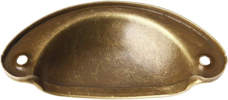 Metal Kitchen Drawer Cabinet Handles Furniture Knobs Handware Cupboard Antique Brass Shell Pull Handles 10PCS Retro Door Handle