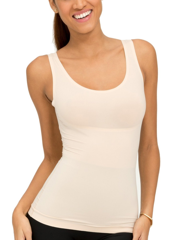 Spanx Women's Plus Size Thinstincts Tank Soft Nude Tank Top 1X