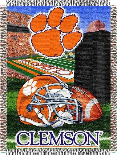 (The Northwest Company Officially Licensed NCAA Clemson Tigers Home Field Advantage Woven Tapestry Throw Blanket, 48